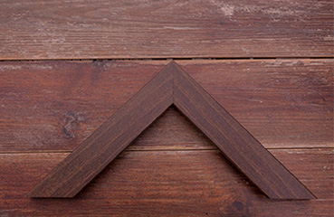 picture framing online dark brown with grain