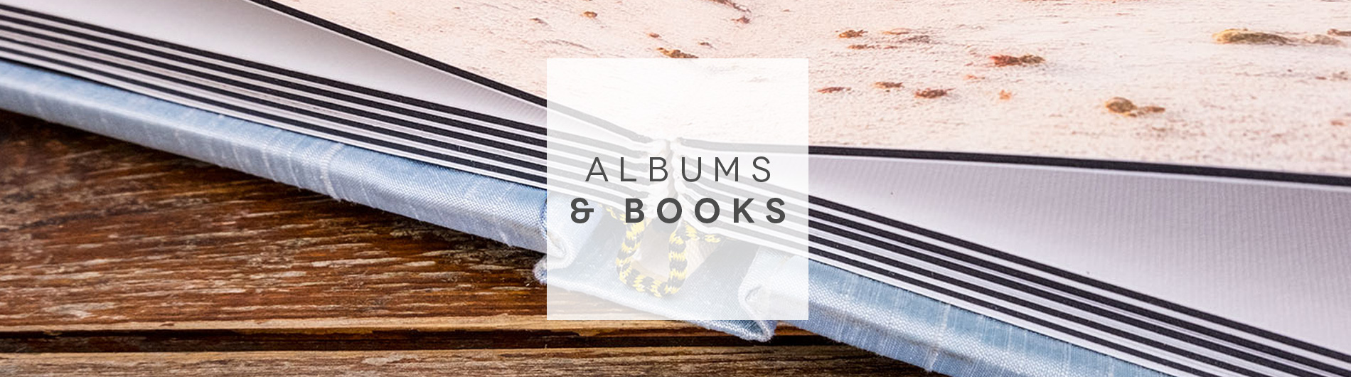 photo albums and books