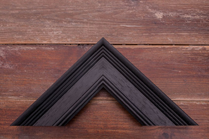 black woodgrain premium frame