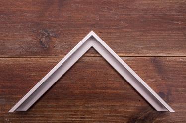 narrow frosted silver aluminium frame