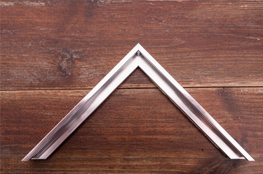 narrow polished silver aluminium frame