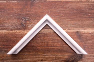white gloss rounded edge aluminium frame