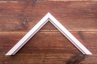 white gloss aluminium frame