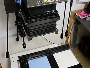 A darkroom enalrger for a c-type print