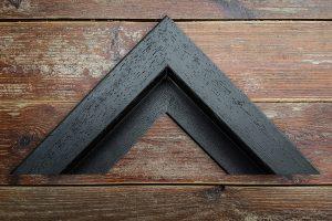 a black deep tray frame example