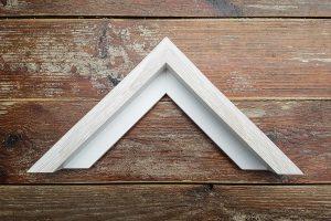 A bleached frame sample