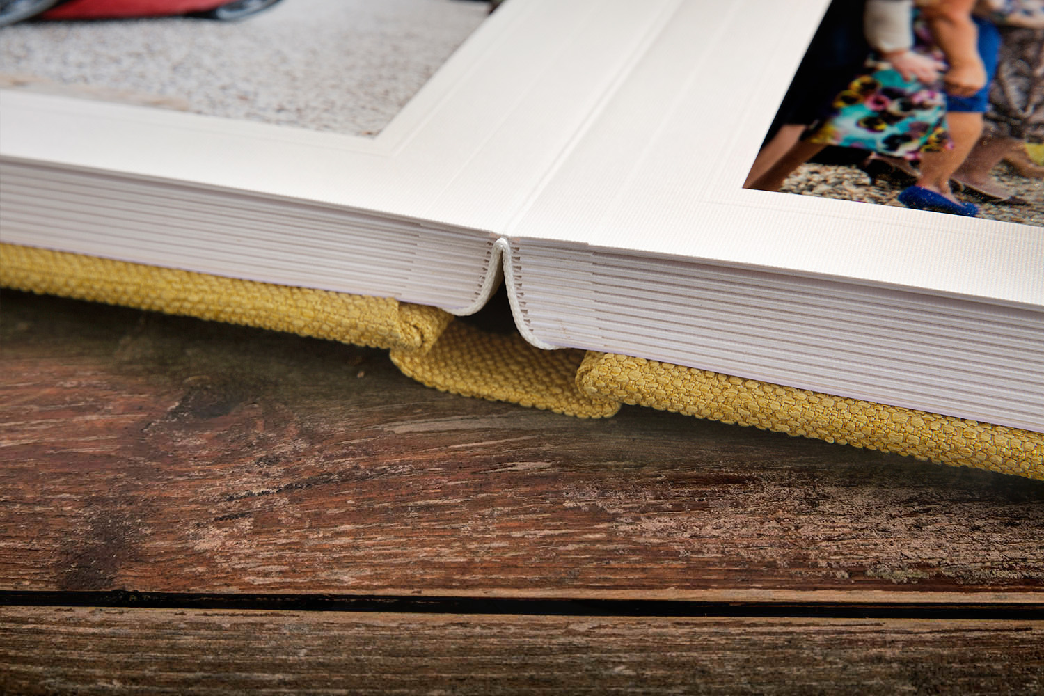 Matted Albums - lay flat detail
