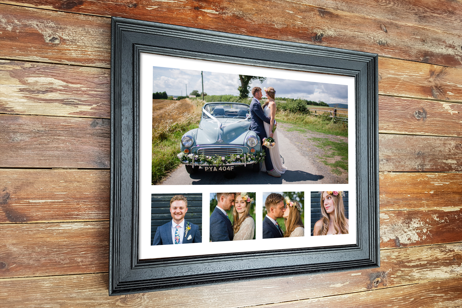 Black Wedding multi aperture frame