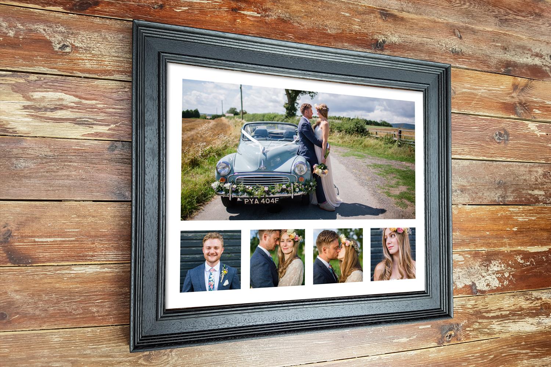Black Wedding multi aperture frame