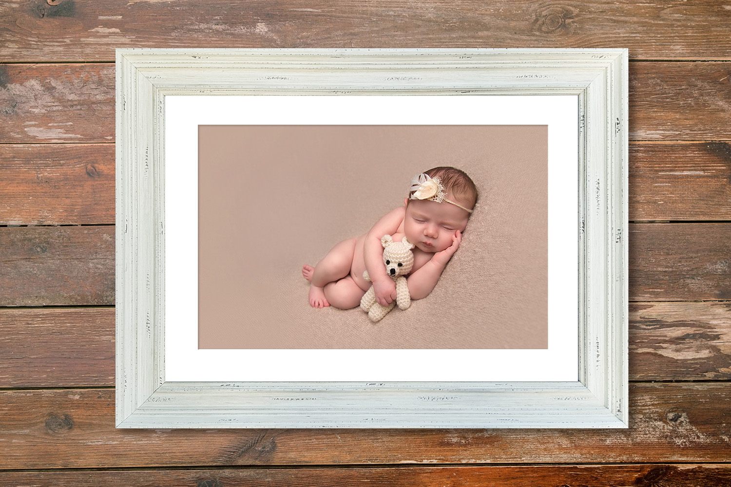 A newborn image in our stunning new Vintage