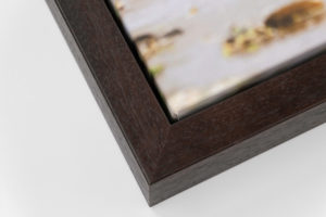 Deep Canvas Tray Frame - Brown, W: 30mm D: 53mm