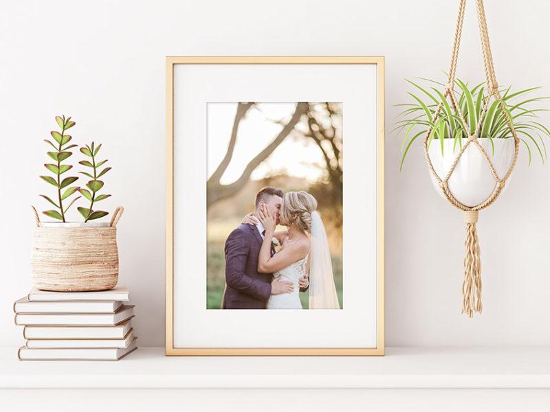 framed print on display