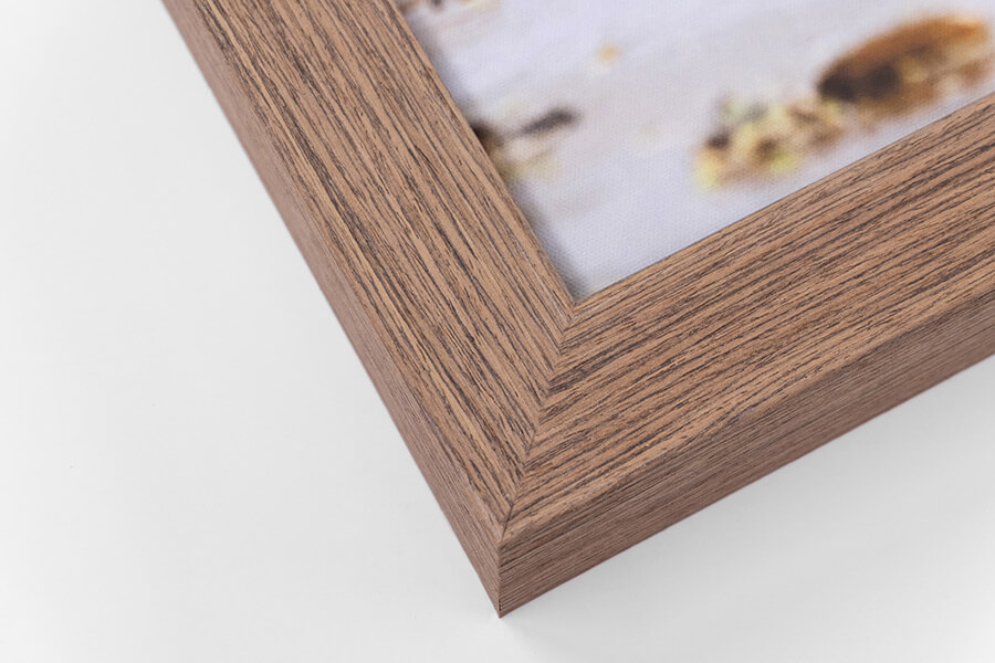 Framed Canvas - Light Walnut, W:42mm, D:52mm