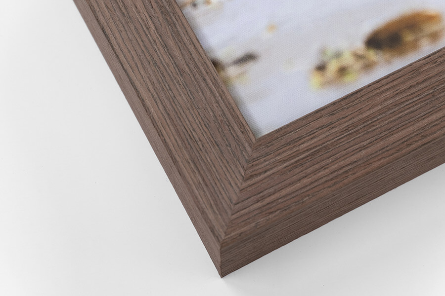 Framed Canvas - Walnut, W:42mm, D:52mm