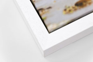 Deep Canvas Tray Frame - White, W: 30mm D: 53mm