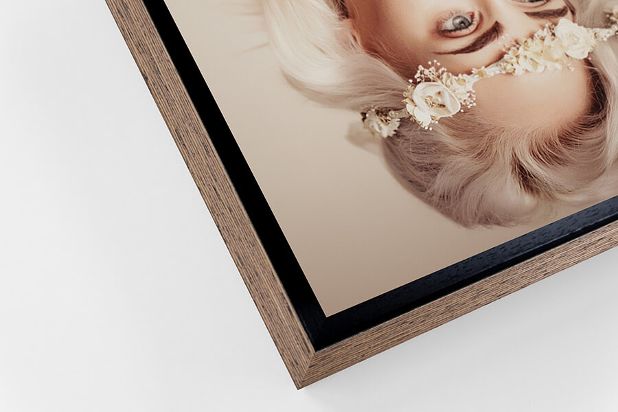 Detail of Wenge Camden Tray Frame