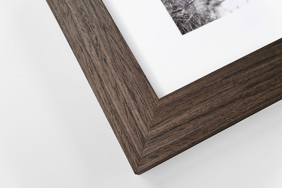 Scandi desk frame walnut